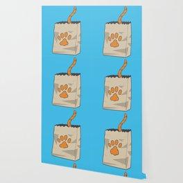 Hand Drawn Cat in the Bag Wallpaper