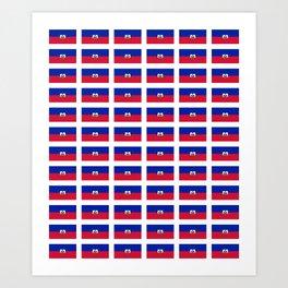 Flag of Haiti-haitan,haitien,port aux princes,cap haitien,carrefour,antilles. Art Print