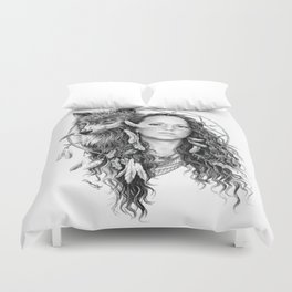 Heather / Black & white Duvet Cover