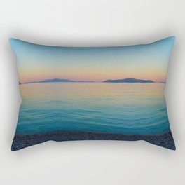 Sunset Greek Island Rectangular Pillow