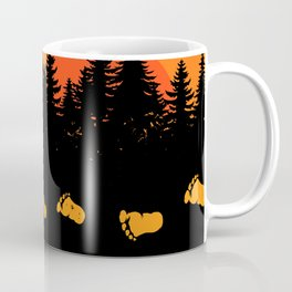 Bigfoot Tracks At Sunset Coffee Mug