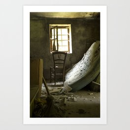 the chair. Art Print
