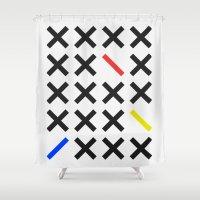 minimalism Shower Curtains featuring Minimalism 3 by Mareike Böhmer