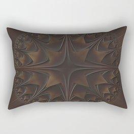 Faux Leather Star Burst Pattern Rectangular Pillow