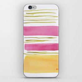 17   |181026 Lines & Color Block | Watercolor Abstract | Modern Watercolor Art iPhone Skin