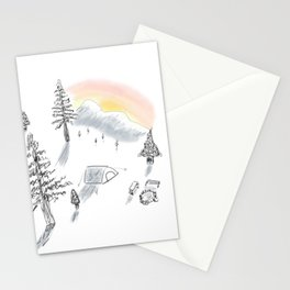 The little campsite Stationery Cards
