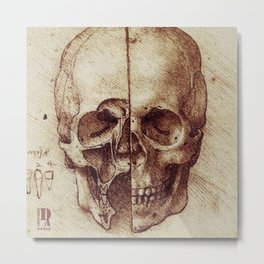 Da Vinci skeleton Metal Print