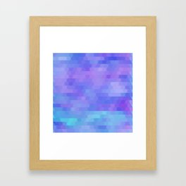 Athena, abstract geometric Framed Art Print