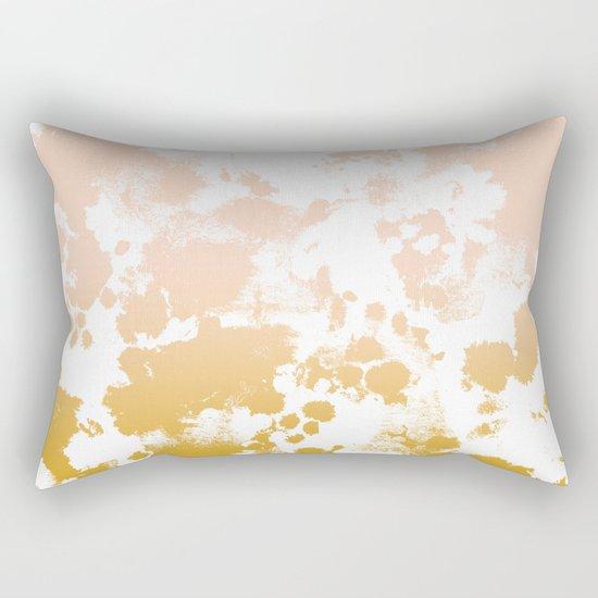 Minimal modern ombre gold to pastel pink abstract art pattern gender neutral Rectangular Pillow