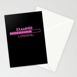 Examiner Loading Stationery Cards
