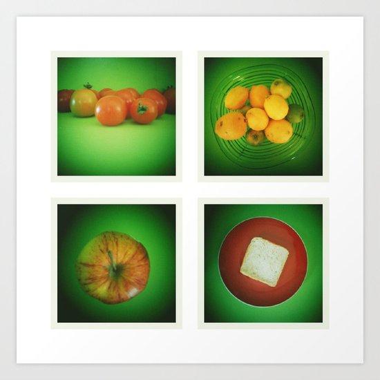 Green Kitchen  Art Print