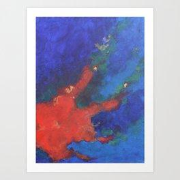 Splattered Peacock (2) Art Print