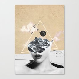 collage art / Wild Nature Canvas Print