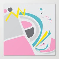 cake Canvas Prints featuring Cake by These Are Strange Days