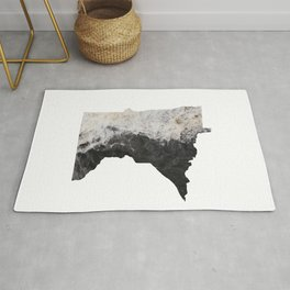 Minnesota Map Outline-North Shore Texture Rug