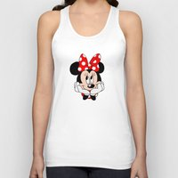 minnie mouse Tank Tops featuring Very cute Minnie Mouse by Yuliya L
