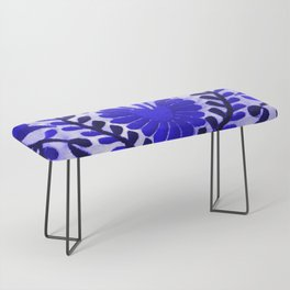 Beautiful Midnight Blue Mexican Flower Bench