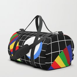 Memphis Grid & Rainbows Duffle Bag