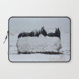 A horses snow day Laptop Sleeve