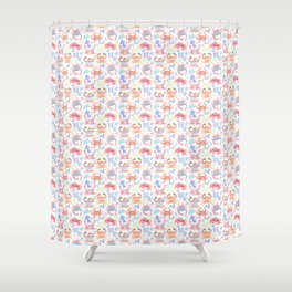 pirate crabs Shower Curtain