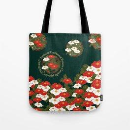 "Japanese Traditional Pattern Japanese camellia ""TSUBAKI"" Tote Bag"
