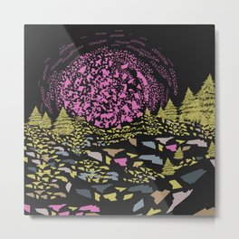 Trippy hills colorful Metal Print