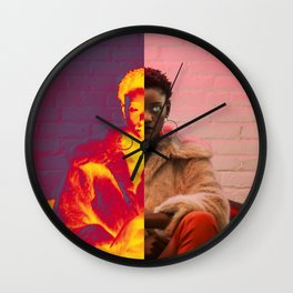 cat's eyes woman Wall Clock