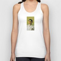 bender Tank Tops featuring Baseball Vintage Bender by Art Lahr