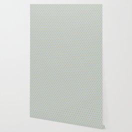 Yellow Sky Blue Cube Pattern Wallpaper