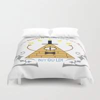 bill Duvet Covers featuring Bill Cipher by Grace T