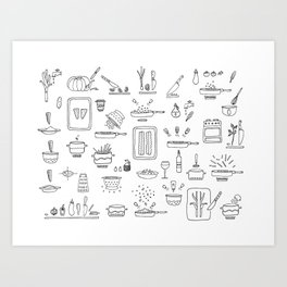 Let's Cook! Art Print