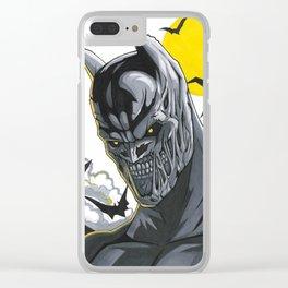 Zombie Bat-Man Clear iPhone Case