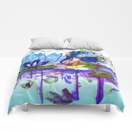 The blue lily water Comforters