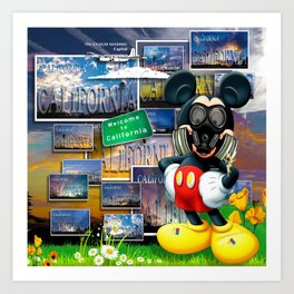 California Mouse by John Logan Art Print