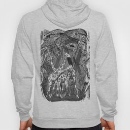 Ink illustration giraffes in the jungle Hoody