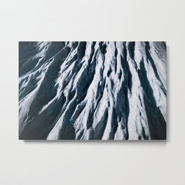 Arctic Glacial Pattern from above - Landscape Photography Metal Print