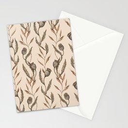 Poppy Pod Pattern Stationery Cards