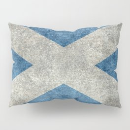 Scottish Flag - Vintage Retro Style Pillow Sham