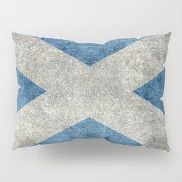 Scottish Flag - Vintage Retro Style Pillow Sham