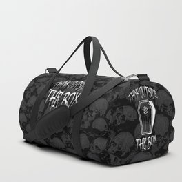 Think Outside The Box Goth Coffin Humour Duffle Bag