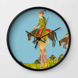 TO PICK UP A HORSE WITH A NOBLEMAN Wall Clock