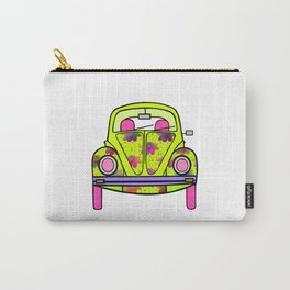 Flowers On Wheels Carry-All Pouch