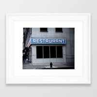 seinfeld Framed Art Prints featuring The [Seinfeld] Diner by Nancy Falso