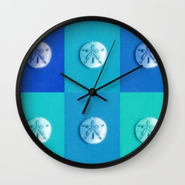 Sand Dollars - multibluegreens! Wall Clock