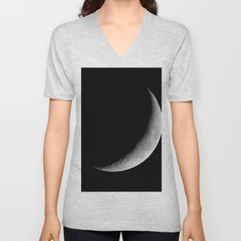 Crescent Moon Unisex V-Neck