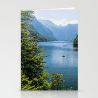 germany Stationery Cards featuring Germany, Malerblick, Koenigssee Lake III by UtArt