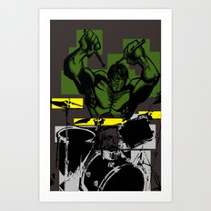 Smash the Drums... Art Print