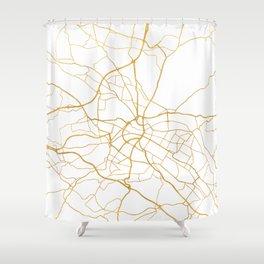 DRESDEN GERMANY CITY STREET MAP ART Shower Curtain
