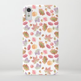 Watercolor Fall Leaves iPhone Case