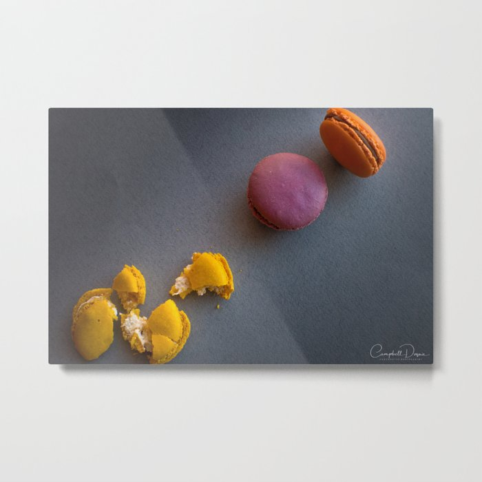 The Art of Food Macaron Crunch Metal Print